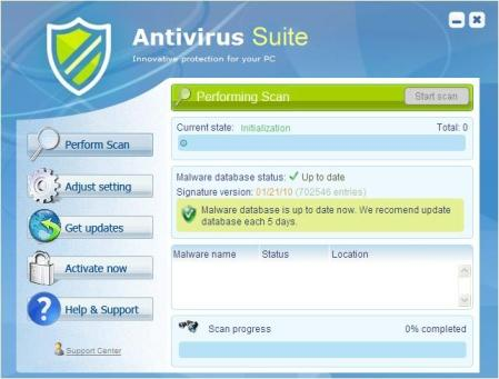 Bogus Antivirus Software Scam