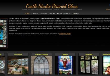 Castlestudioinc.com web design by 6x6 Design, LLC