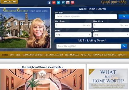 Chriscurtess.com web design by 6x6 Design, LLC
