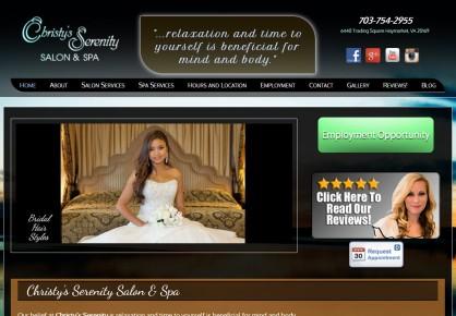 Christysserenity.com web design by 6x6 Design, LLC