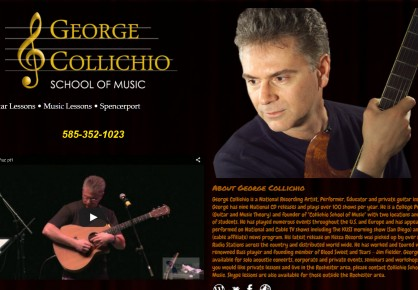 GeorgeCollichio.com web design by 6x6 Design, LLC