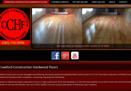 Hardwoodfloorsbyjason.com web design by 6x6 Design, LLC