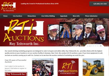 Teitsworth.com web design by 6x6 Design, LLC
