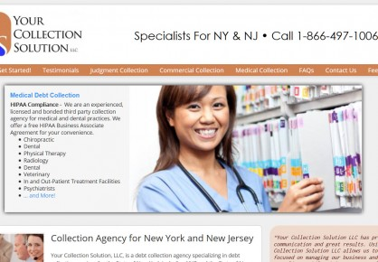 YourCollectionSolution.com web design by 6x6 Design, LLC